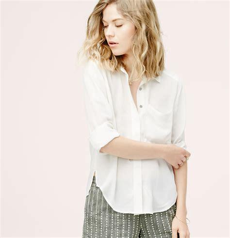 Cameroon Blouse lou grey silk blouse loft
