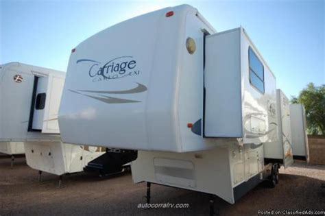 2 bedroom cers carriage cameo fifth wheel interior carriage cameo f35ckq rvs for sale