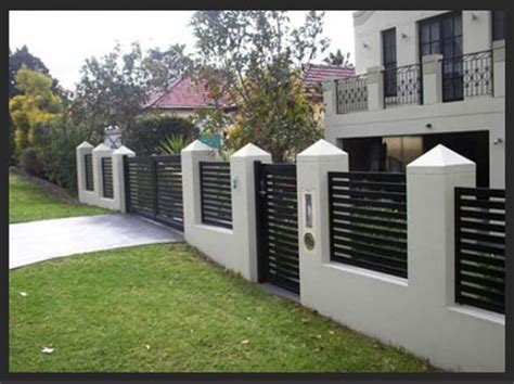 modern front fences search outdoor fencing