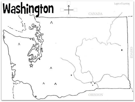 washington map coloring page coloring coloring pages