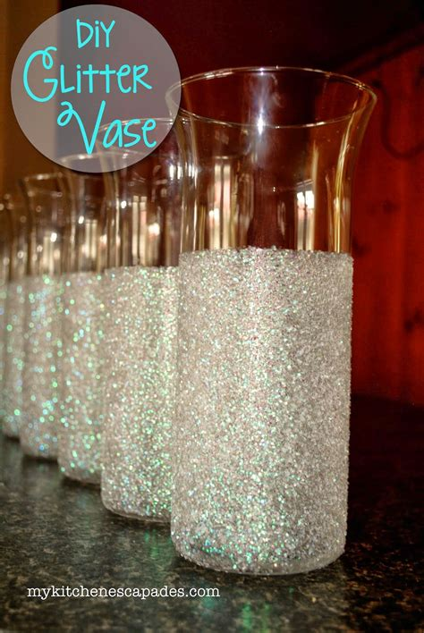 glitter vases for wedding or decorations diy