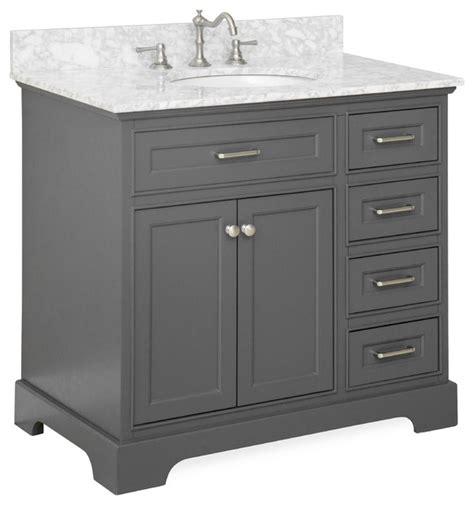 charcoal grey bathroom vanity aria 36 quot single bathroom vanity carrara charcoal gray