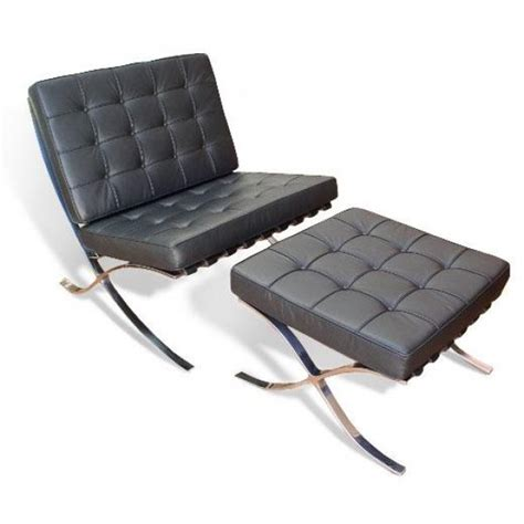 mies van der rohe couch barcelona chair and ottoman by ludwig mies van der rohe