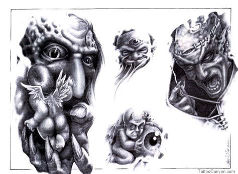 tattoo pictures skulls demons skull adn demon tattoo design img88 skulls demons flash