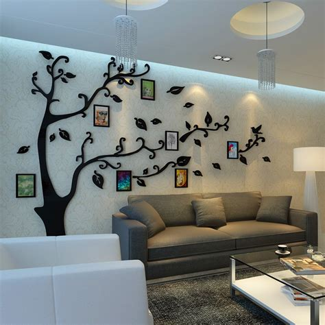 cheap wall stickers for rooms cheap 12pcs photo frame tree wall stickers acrylic 3d stereo photo wall living room