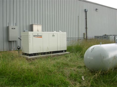 generac 130kw generator with transfer switch and propane