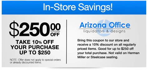coupons and discounts for office furniture az office