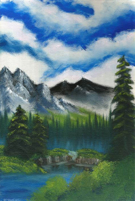 bob ross painting valley view my bob ross painting valley of tranquility by