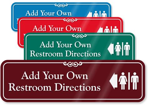 custom bathroom signs custom bathroom signs