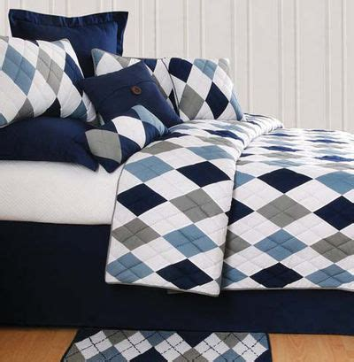 navy blue and gray bedding navy blue gray and white in a classic argyle pattern