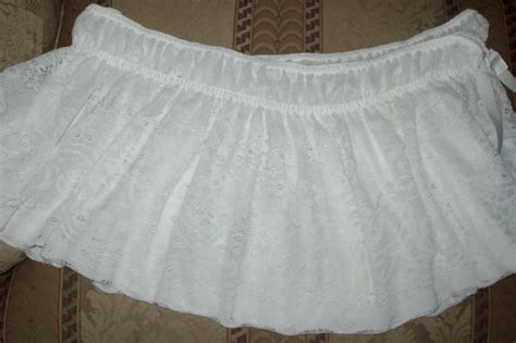 lace bed skirt white lace bed skirt twin full double elastic top easy