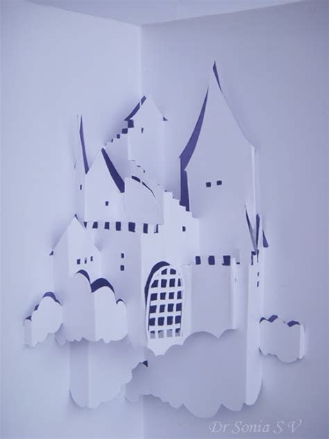 Disney Castle Pop Up Card Template by Cards Crafts Projects Origamic Architecture