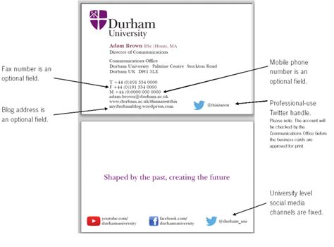 Durham College Letterhead Communications Office Ordering Durham Branded Business Cards Durham