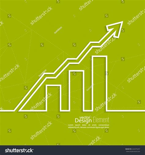 most successful investment bankers graph shows growth profit income successful stock vector