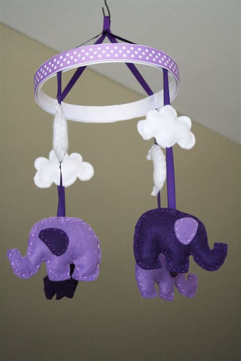 Purple Crib Mobile by Unavailable Listing On Etsy