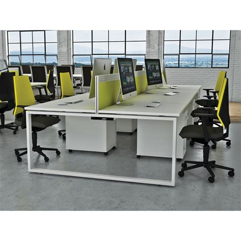 i bench white office desk dual ibench 06 office furniture london
