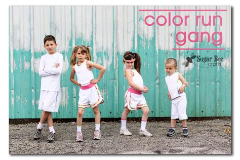 what to wear to a color run color run sugar bee crafts