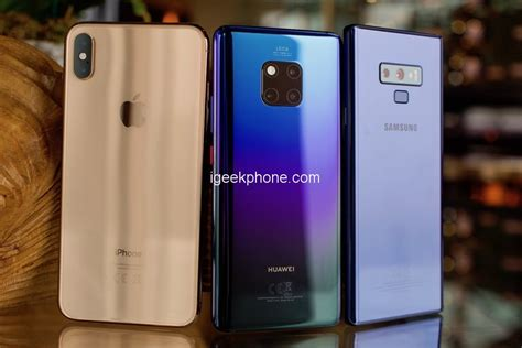huawei mate20 pro vs iphone xs max vs samsung galaxy note 9