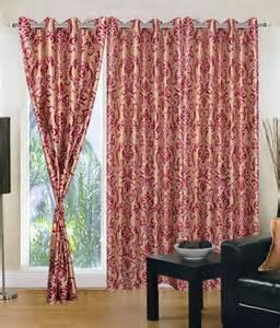 maroon curtains homezaara stylish maroon door curtain set of 3 buy