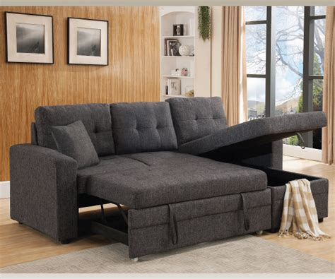 gray sectional with pull out bed grey linen like fabric pull out sofa bed sectional