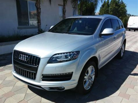 audi with 3rd row seating sell used 2011 audi q7 tdi premium 3 0l 3rd row seating