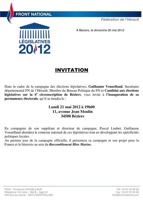 Exemple De Lettre D Invitation Pour Une Fête Lettre Dinauguration