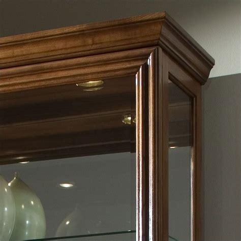 golden oak cabinet doors pulaski 2 way sliding door curio cabinet in golden oak 20544