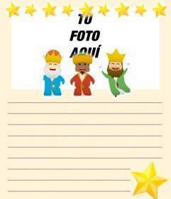 fotos reyes magos montaje carta para los tres reyes magos para personalizar con tu