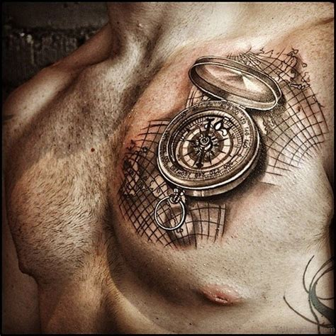 tattoo compass and map 51 attractive compass tattoo design on chest