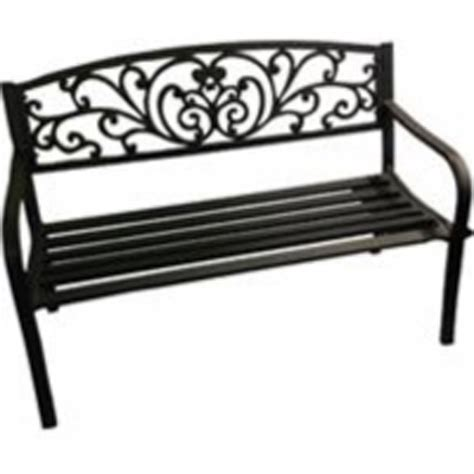 cast iron bench back bond mfg cast iron scrolled back park bench