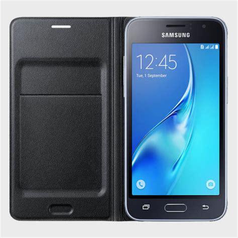 Samsung J1 2015 Flip official samsung galaxy j1 2016 flip wallet cover black