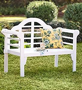 garden bench amazon amazon com lutyens wood garden bench with folding design