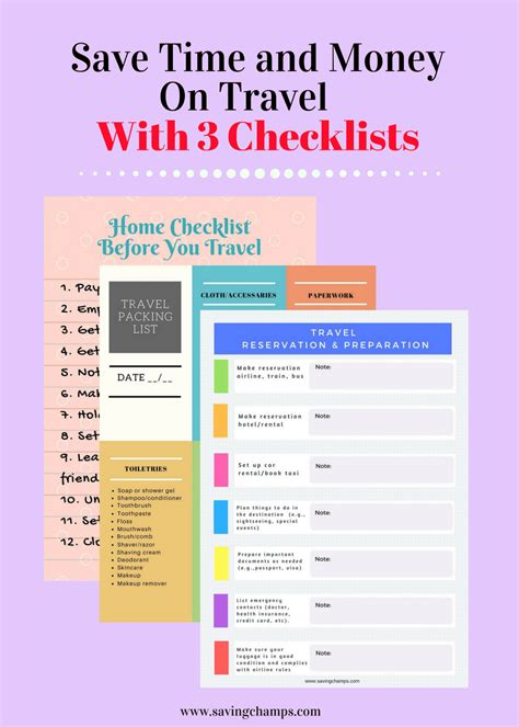 travel checklist travel checklists for saving time and money on travel