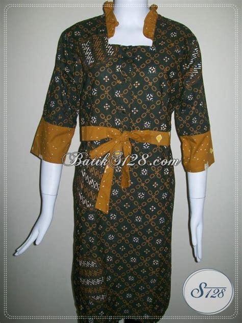 Kain Jumputan Dan Batik Printing dress batik trend mode 2014 dengan motif jumputan untuk