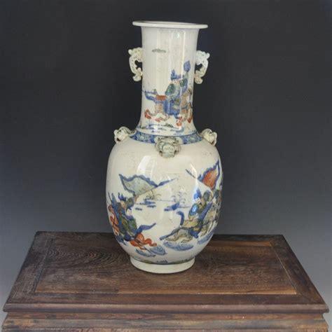 Antique Ceramic Vases by Qing Kangxi Year Antique Ceramic Vase Glazed
