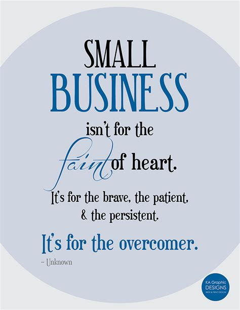 small business inspiration persistence quote