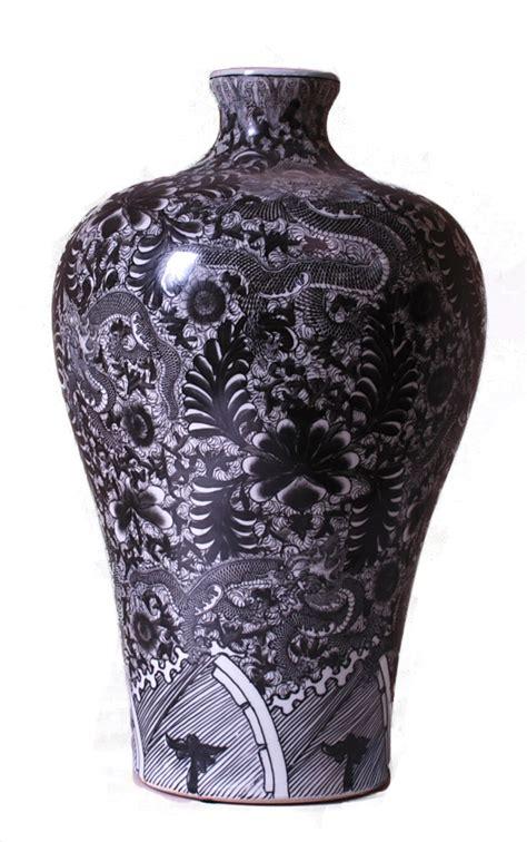 Black And White Vase Decoration Black And White Mei Ping Vase Home Decor