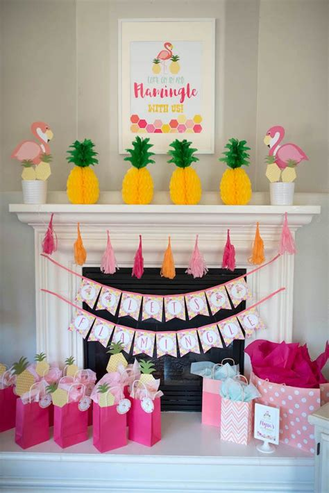 Tropical Themed Party Decorations - kara s party ideas flamingo flamingle pineapple party kara s party ideas