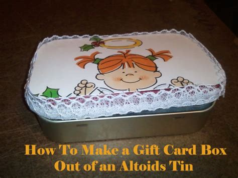 how to make a box out of card template how to make a gift card box out of an altoids tin look