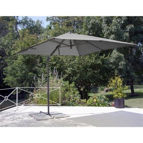 parasol jardin pas cher parasol d 233 port 233 roma 2 5x2 5 grey achat vente parasol deporte pas cher coindujardin