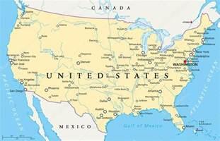 mapa pol 237 tico de estados unidos de am 233 rica vector stock