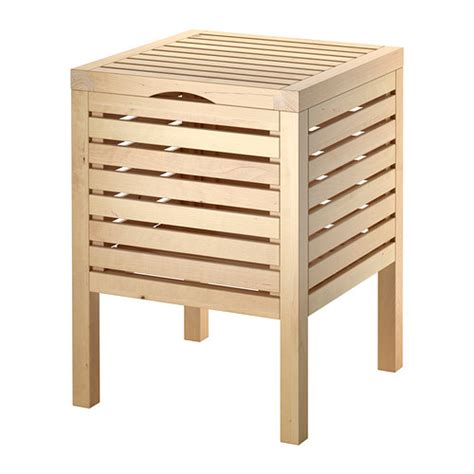 bathroom storage benches molger storage stool birch ikea