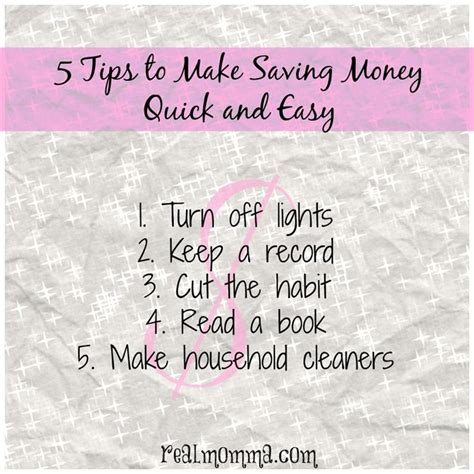 5 Tips To Make Money 5 Tips To Make Saving Money And Easy Real Momma