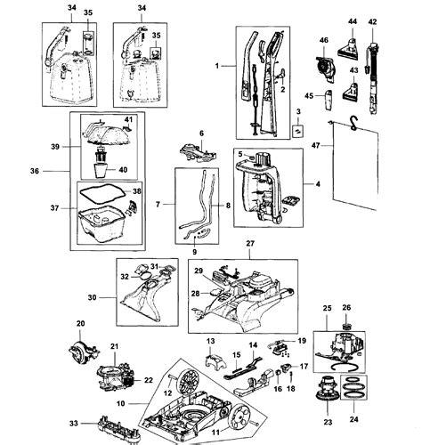 hoover carpet cleaner parts diagram hoover carpet cleaner parts model fh50150 sears
