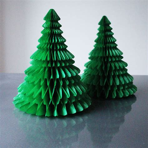 christmas decorations with tissue paper paper tabletop tree decorations by pearl and earl notonthehighstreet