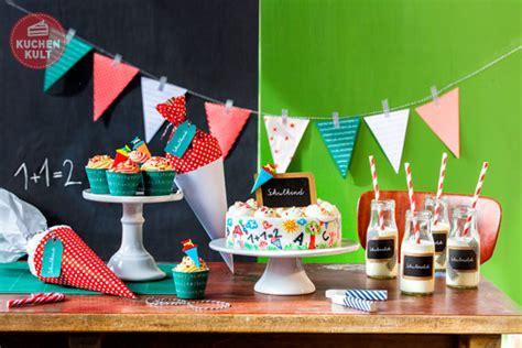 dekoration einschulung einschulungstorte torte tischdeko zur einschulung