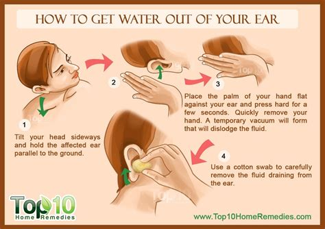 how to make hair stay behind your ear how to get water out of your ear top 10 home remedies