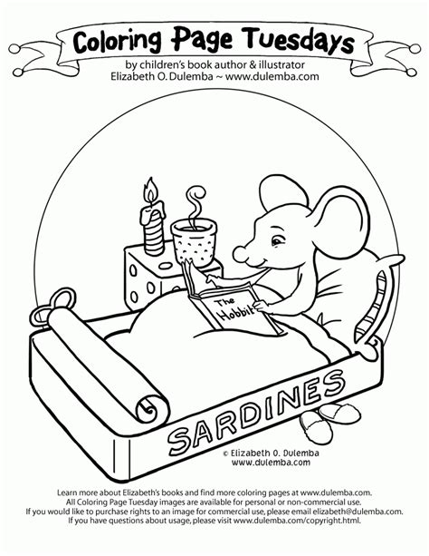 dulemba coloring page tuesday studying mouse library coloring page coloring home