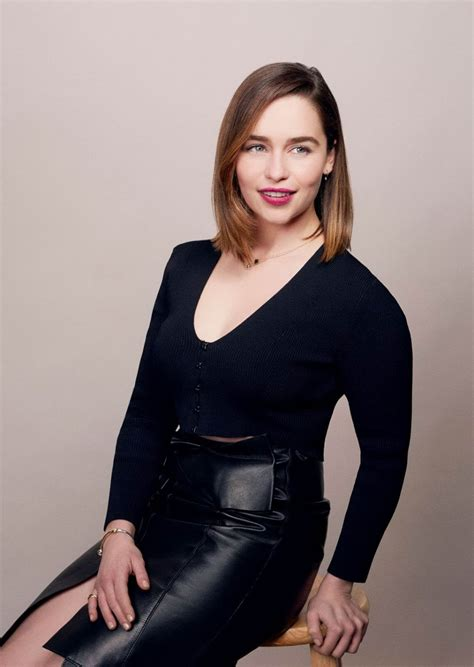 emilia clarke lovely ladies in leather emilia clarke in a leather pencil skirt