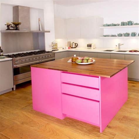 painted kitchen island ideas vivid pink painted kitchen island painted kitchen design